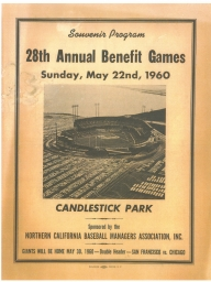 1960: 28th Annual Nealon Benefit Games Candlestick Park