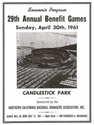 1961: 29th Annual Nealon Benefit Games Candlestick Park